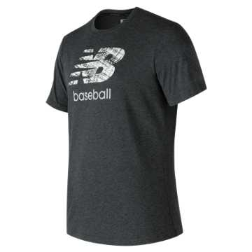 New Balance Baseball Grind 5050 Tee, Team Black