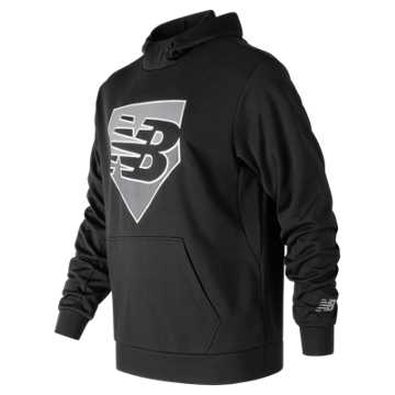 New Balance Baseball Shift Perf Hoodie, Team Black