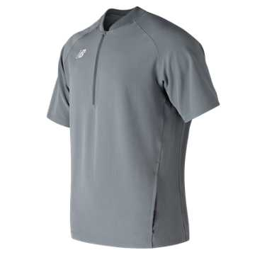 New Balance Short Sleeve 3000 Batting Jacket, Gunmetal