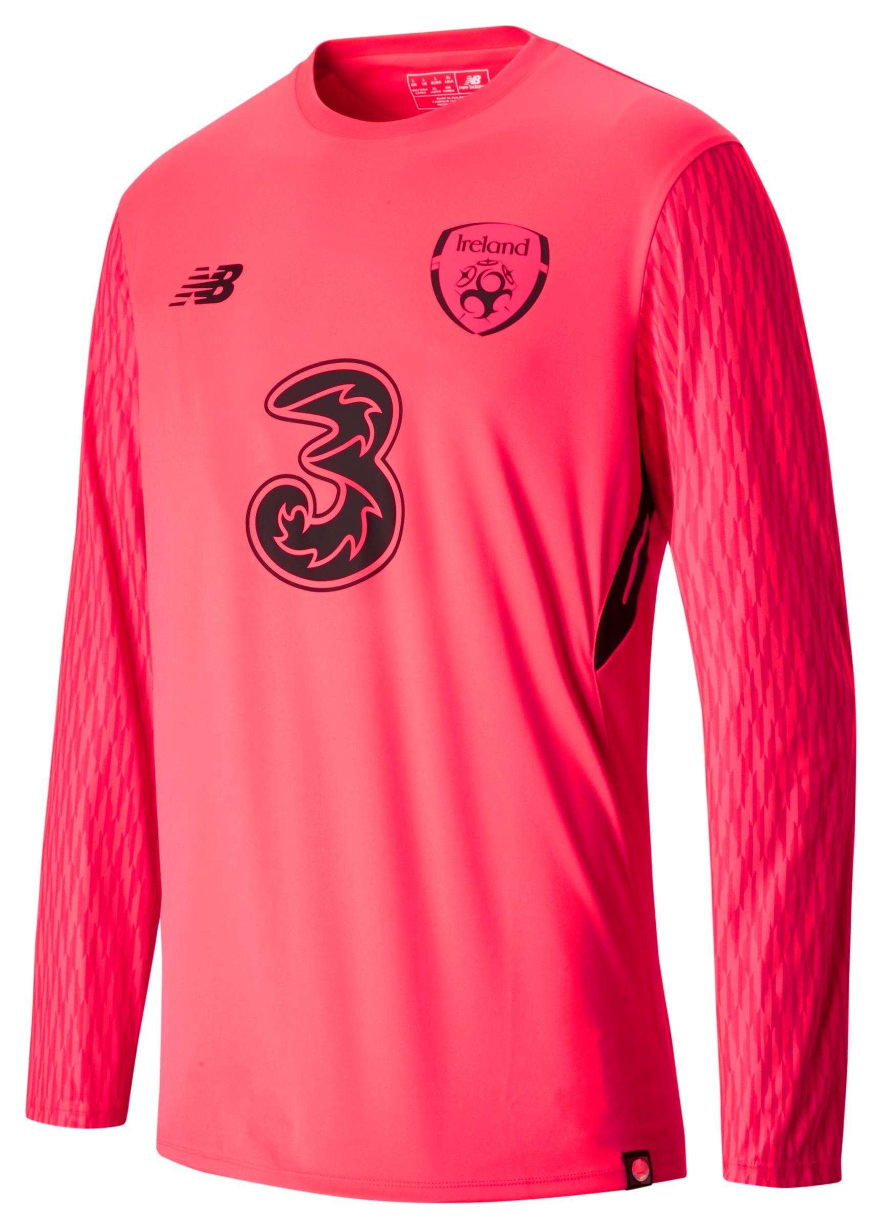 NB FAI Home GK LS Jersey, Bright Cherry