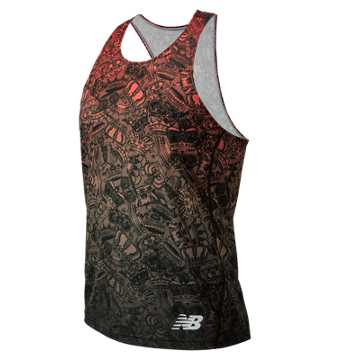 New Balance Brooklyn Half Singlet, Black with Red