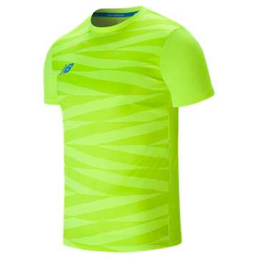New Balance Elite Tech Training Short Sleeve Graphic Jersey, Hi-Lite