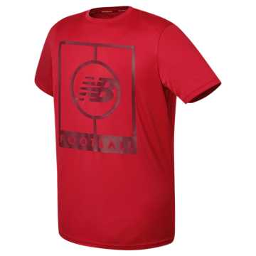 New Balance Elite Tech Training Short Sleeve Graphic Jersey, Team Red