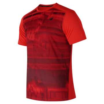 New Balance Printed Max Intensity Short Sleeve, Flame