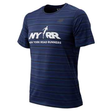 New Balance Run 4 Life Anticipate Short Sleeve, Pigment