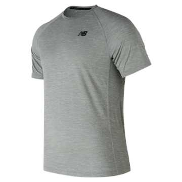 New Balance Tenacity Short Sleeve, Athletic Grey