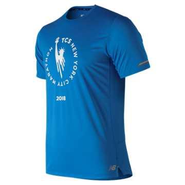 New Balance 运动T恤 男款 纽约马拉松系列 冰感快干 夏日运动, LSB