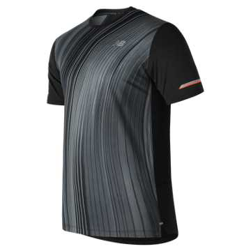 New Balance Printed NB Ice 2.0 Short Sleeve, Black