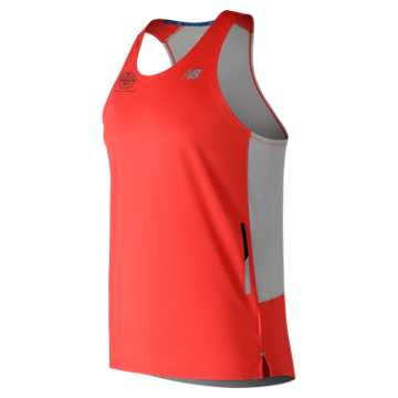 New Balance Brooklyn Half NB Ice 2E Singlet, Flame