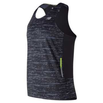 New Balance Printed NB Ice 2E Singlet, Black Multi