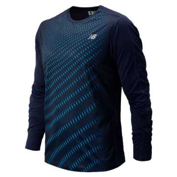 New Balance Accelerate Graphic Long Sleeve, Pigment