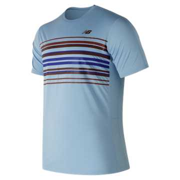 New Balance Graphic Accelerate Tennis Crew, Clear Sky