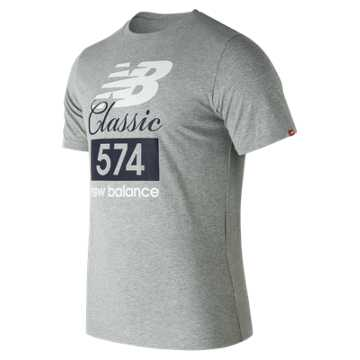 New Balance Classic 574 Tee, Athletic Grey
