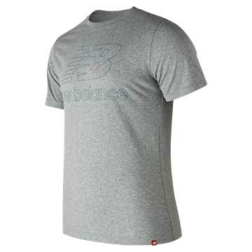 New Balance Essentials Landing Tee, Athletic Grey