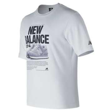 New Balance 574 Tee, White