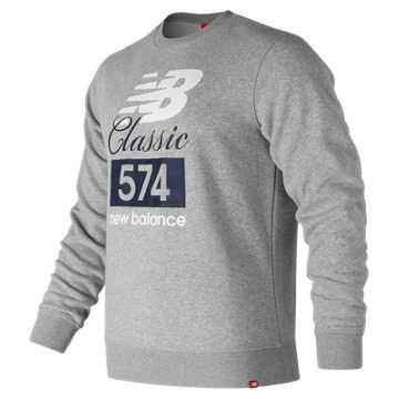 New Balance Classic 574 Crew, Athletic Grey