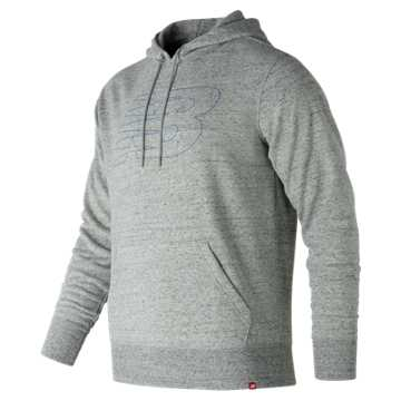 New Balance Heather Po Hoodie, Heather Grey