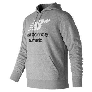 New Balance NB Numeric Logo Stacked Hoodie, Athletic Grey