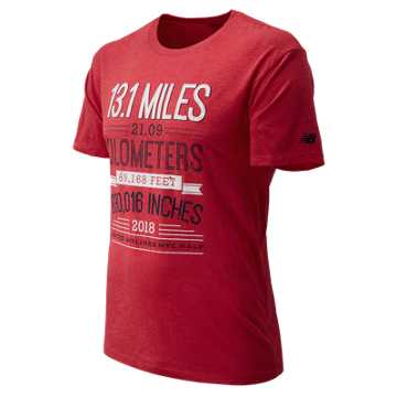 New Balance NYC Half Distance Short Sleeve, Red