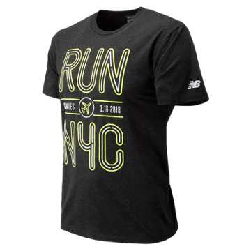 New Balance United Airlines NYC Half Run NYC Short Sleeve, Black