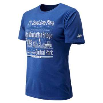 New Balance United Airlines NYC Half Landmarks Finisher SS, Blue