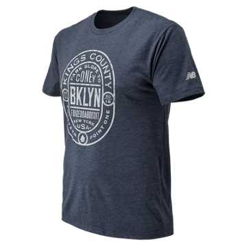 New Balance Brooklyn Half No Sleep Tee, Navy