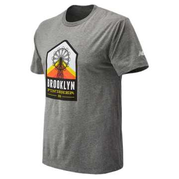 New Balance Brooklyn Half Wheel Finish Tee, Grey
