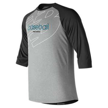 New Balance Walk Off Graphic Raglan, Team Black
