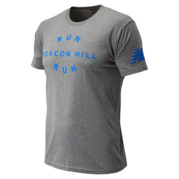 New Balance Run Beacon Hill Run Tee, Grey
