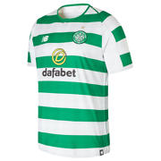 NB Celtic FC Home Short Sleeve Jersey, White with Celtic Green