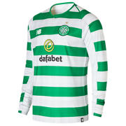 NB Celtic FC Home Long Sleeve Jersey, White with Celtic Green