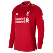 NB LFC Mens Salah Home Long Sleeve EPL Patch Jersey, Red Pepper