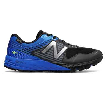 New Balance 910v4 Trail GTX, Black with Vivid Cobalt Blue