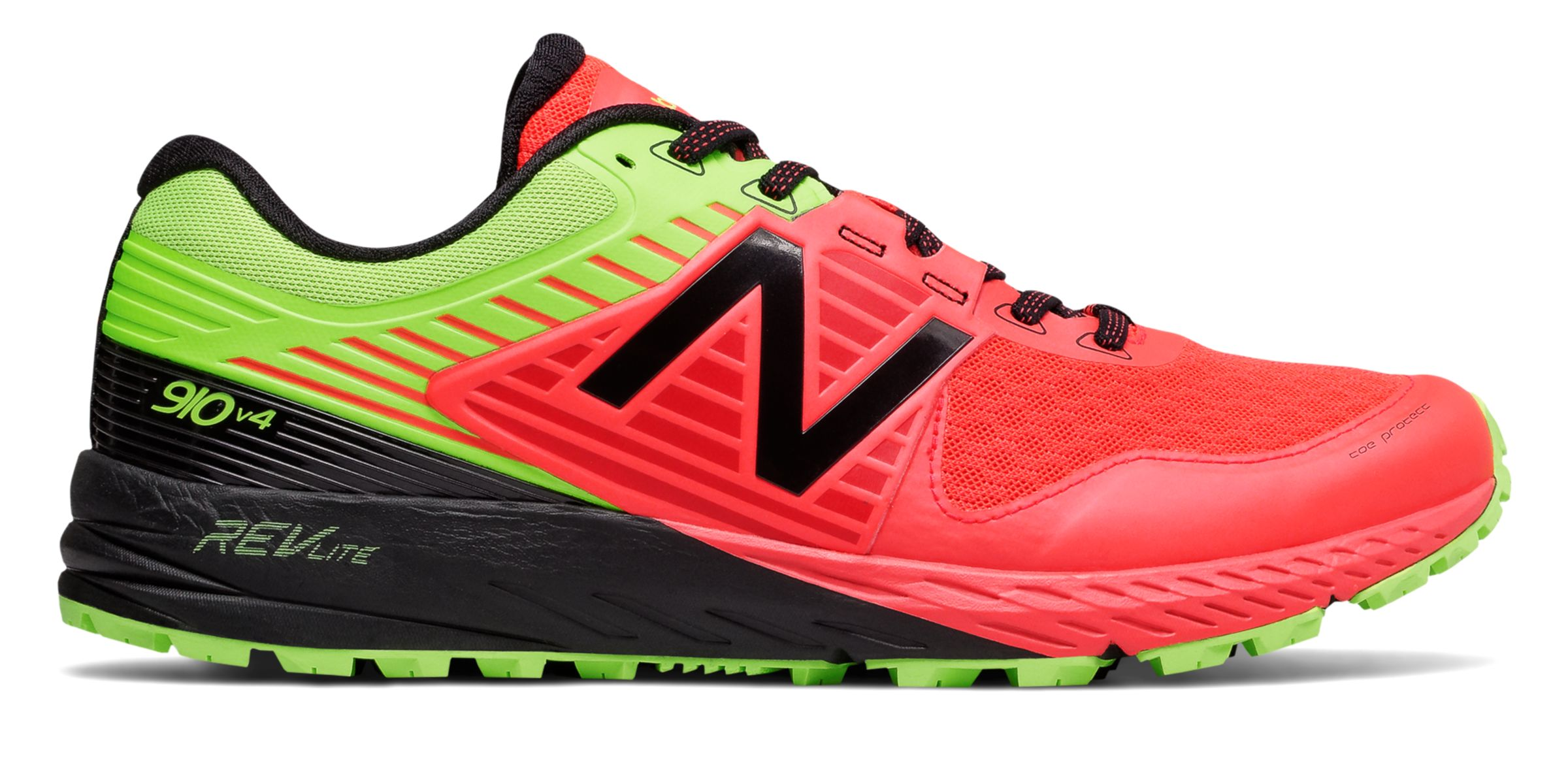 NB New Balance 910v4 Trail, Energy Red with Energy Lime & Black