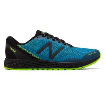 New Balance Fresh Foam Gobi Trail v2, Black with Bolt & Energy Lime