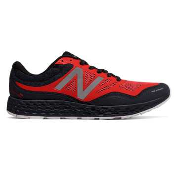 New Balance Fresh Foam Gobi Trail, Black with Orange
