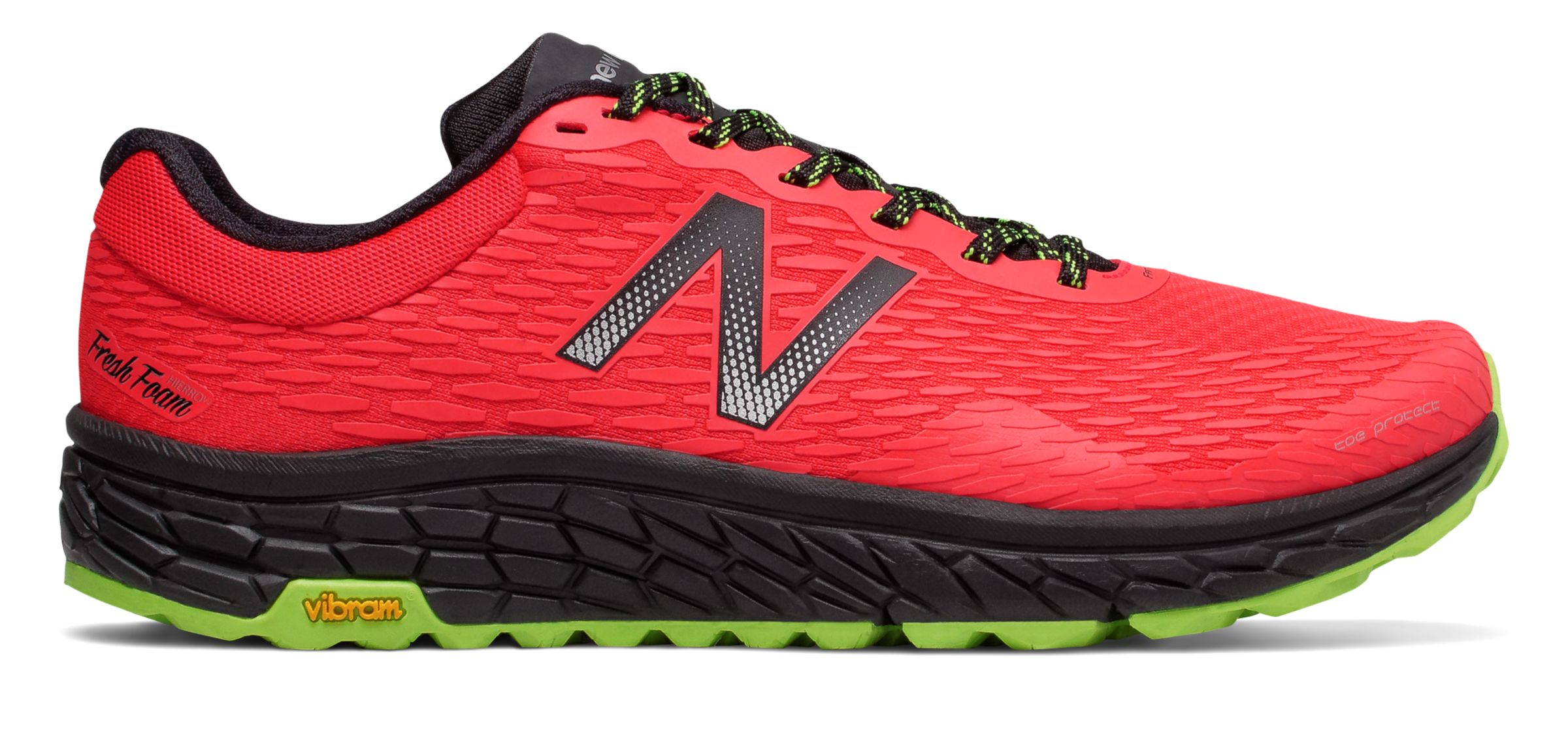 NB Fresh Foam Hierro v2, Energy Red with Energy Lime