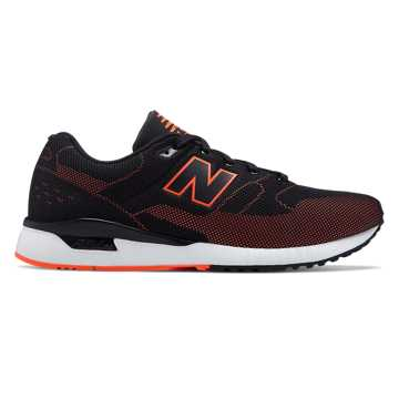 New Balance 530 Re-Engineered, Black with Alpha Orange