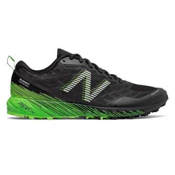 New Balance Summit Unknown, Black with Energy Lime