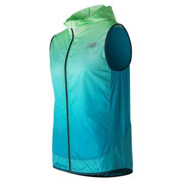 New Balance Fun Run Vest, Agave with Deep Ozone Blue