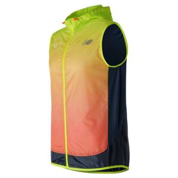New Balance Brooklyn Half Fun Run Vest, Hi-Lite with Supercell & Sunrise