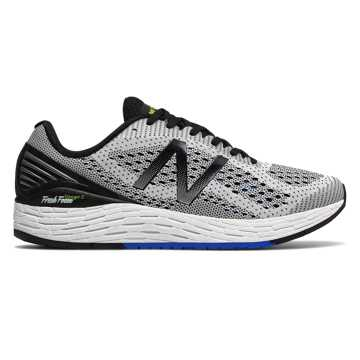 New Balance Fresh Foam Vongo v2, White with Vivid Cobalt Blue