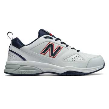 New Balance New Balance 623v3 Trainer, White with Navy & Red