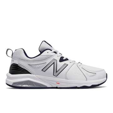 New Balance Mens New Balance 857v2, White with Navy