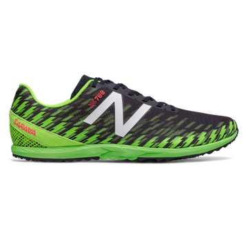 New Balance XC700v5 Spikeless, Thunder with Energy Lime