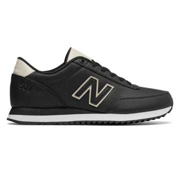 New Balance 501 Ripple Sole, Black with Powder