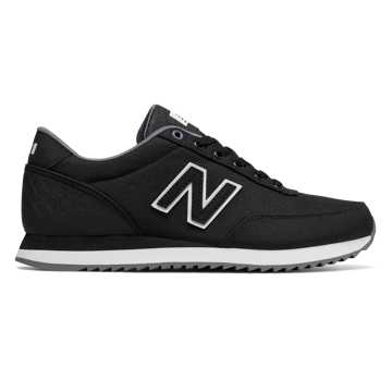 New Balance 501 Ripple Sole, Black with White