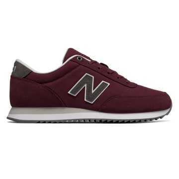 New Balance 501 Textile, Burgundy with Navy