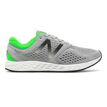 New Balance Fresh Foam Zante v3 Breathe, Silver Mink with Vivid Cactus & Black