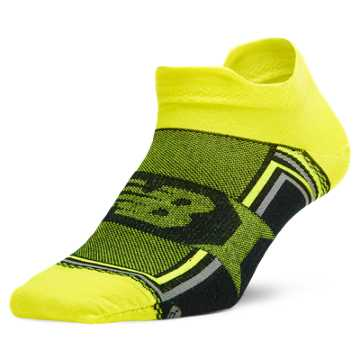New Balance Hydrotec® Tab No Show 1 pair, Black with Yellow
